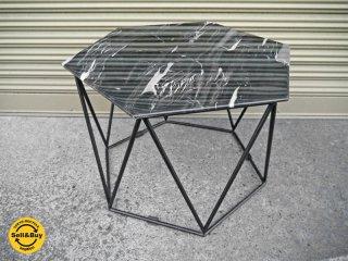 アルモニア ARMONIA 美品 トリアス Trias マーブル センターテーブル 大理石天板 ヘキサゴン 六角形 ローテーブル サイドテーブル 定価¥39,900- ◇
