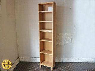 無印良品 MUJI 組み合わせて使える木製収納 タモ材 本棚 シェルフ ◎