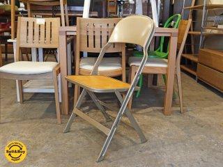 クラリン CLARIN フォールディングチェア 折り畳みチェア Folding chair ウッドシート 板座 ■