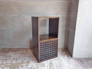 エーフラット a.flat ユニットキューブ 1×2 無垢材 ウッドドロアー ボックス付き シェルフ♪