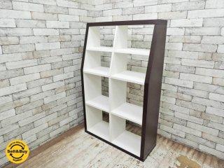 インザルーム in The ROOM 木製オープンシェルフ 4段2列 モダンデザイン ●