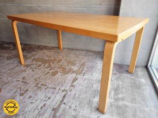 アルテック artek 82A ダイニングテーブル 幅150cm バーチ材 ナチュラル アルヴァ・アアルト デザイン ♪