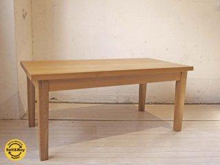 無印良品 MUJI 廃番 タモ材 天板 無垢集成材 センターテーブル シンプルナチュラル コーヒーテーブル ★