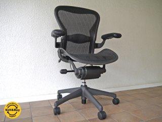 ハーマンミラー HermanMiller アーロンチェア Aeron Chair ランバーサポート フル装備 Bサイズ 定価¥183,600- ( デスクチェア / オフィスチェア )状態良好 ◇
