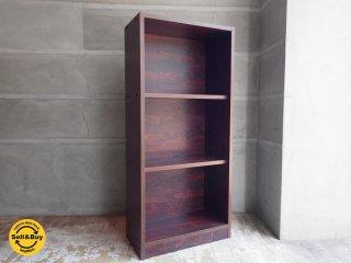 ローズウッドプリント ヴィンテージ 3段シェルフ カラーボックス 収納棚 本棚♪