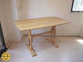 モモナチュラル MOMO natural FD ミドルテーブル MIDDLE TABLE アルダー材 オイル仕上 高さ49cm〜71cmまで4段階調整 ★