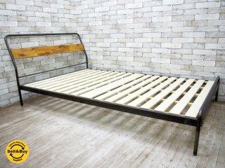 アデペシュ a.depeche ソコフ ベッド socph bed セミダブル インダストリアルスタイル ●