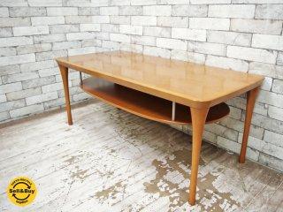 カリモク karimoku 木製ローテーブル センターテーブル 棚付き ●