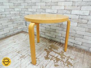 アルテック Artek 90C テーブル 90C TABLE バーチ材 天板60cm 高さ60cm アルヴァ・アアルト 北欧家具 ビンテージ ●