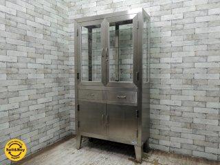 ケビント 医療棚 ドクターキャビネット 収納棚 飾り棚 スチール インダストリアル 工業系デザイン ●