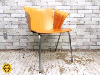 フリッツハンセン Fritz Hansen VM3 ヴィコチェア VICO Chair ヴィコ・マジストレッティ プライウッド ナチュラル 北欧 A ●