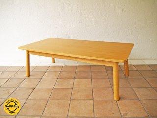無印良品 MUJI オーク材ラウンジテーブル1 オーク材 ナチュラル 現行定価:¥41,900- ローテーブル センターテーブル コーヒーテーブル ◇
