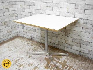 ディーアンドデパートメント D&DEPARTMENT カフェテーブル Cafe Table クロームメッキ X脚 ミッドセンチュリー ●