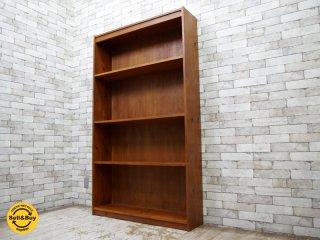 USビンテージ パイン無垢材 ブックシェルフ 本棚 木味 ●