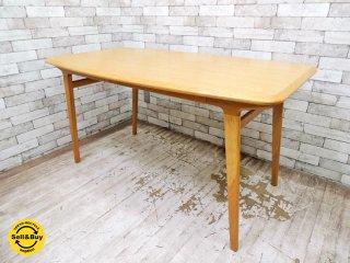 イデー IDEE イキ IKI オーク材 廃盤・希少 ダイニングテーブル W1400 参考価格¥99,750- カフェテーブル デスク ワークテーブル ナチュラルモダン ◇