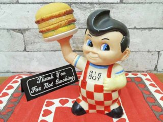 ビッグボーイ BIGBOY ボビーくん ソフビ 貯金箱 フィギュア アメリカンレトロ玩具 ●