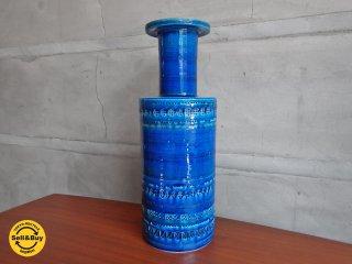 フラビア FLAVIA ビトッシ BITOSSI フラワーベース 青釉 花瓶 リミニブルー イタリア製 ♪