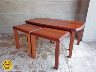 ビンテージ チーク材 無垢材 ネストテーブル サイドテーブル ♪