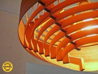 ヤマギワ yamagiwa 取扱 スウェーデン ヤコブソンランプ JAKOBSSON LAMP 展示品 パイン材 ペンダントランプ 323F-222 定価¥71,388- 北欧モダン 照明器具 ◇