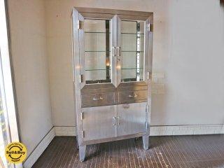 ケビント 医療棚 ドクターキャビネット 収納棚 飾り棚 スチール インダストリアル 工業系デザイン ◎
