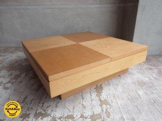 日進木工 nisshin 妙シリーズ センターテーブル ローテーブル トレー付 座卓 テーブル 飛騨家具 ♪