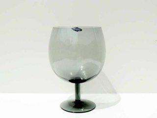ヌータヤルヴィ Nuutajarvi ワイングラス / 脚付ベース グレー ビンテージ サーラ・ホペア Saara Hopea ●