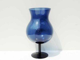 ヌータヤルヴィ Nuutajarvi #3403 ワイングラス / 脚付ベース ブルー ビンテージ サーラホペア Saara Hopea ●