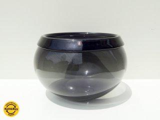 イッタラ iittala アート ガラス ボウル Art glass Bowl グレー ビンテージ ティモ・サルパネヴァ 三角シール ●