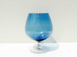 イッタラ iittala コニャックグラス ワイングラス ベース ブルー ビンテージ エルッキ・ヴェサント Erkki Vesanto 三角シール ●