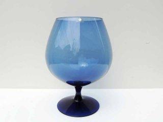イッタラ iittala ビッグワイングラス ベース ブルー ビンテージ エルッキ・ヴェサント Erkki Vesanto 三角シール ●