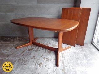 スコービー skovby チーク材 EX エクステンション 伸長式 ダイニングテーブル w150〜250cm デンマーク ♪