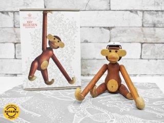 カイボイスン Kay Bojesen モンキー Monkey Sサイズ 木製オブジェ 箱付 帽子付 ●