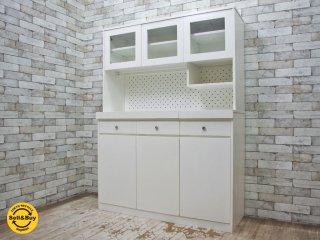 ウニコ unico ノート NOTE キッチンボード / 食器棚 ホワイト 廃盤 カントリースタイル ●