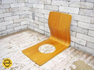 天童木工 TENDO 座椅子 ケヤキ プライウッド 藤森健次 ●