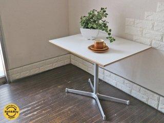 ディーアンドデパートメント D&DEPARTMENT カフェテーブル Cafe Table クロームメッキ X脚 ミッドセンチュリー ◎