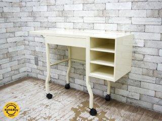 インダストリアルスタイル スチール製 タイプライターデスク Steel Typewriter Desk P.F.S取扱い ●