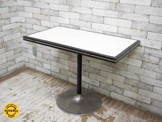 ビンテージ vintage カフェテーブル / LDテーブル ラッパ脚 レトロスタイル ミッドセンチュリー ●