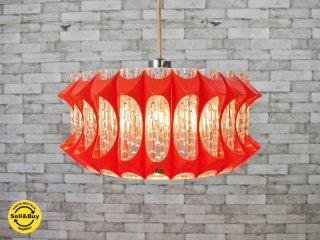 コイズミ 昭和レトロポップ ペンダントライト 照明 オレンジ ジャパンビンテージ ●