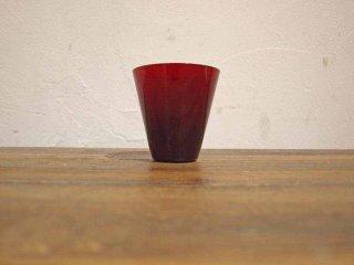 ヌータヤルヴィ Nuutajarvi カイ・フランク Kaj Franck ビンテージ カルティオ Kartio ♯2744 赤 レッド タンブラー グラス B★