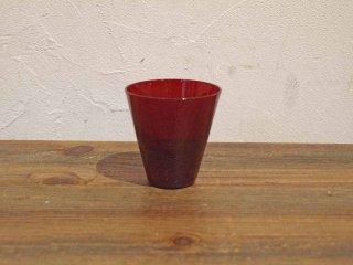 ヌータヤルヴィ Nuutajarvi カイ・フランク Kaj Franck ビンテージ カルティオ Kartio ♯2744 赤 レッド タンブラー グラス A★