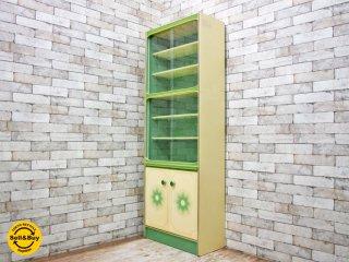 ビンテージ vintage レトロポップ カップボード / 食器棚 60's B ●