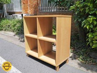 無印良品 MUJI タモ材 木製オープンシェルフ ラック 2×2 飾り棚 廃番品 ■