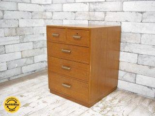 ジャパンビンテージ チーク材 小引き出し 5杯 古家具 ●