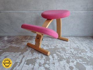 リボ Rybo バランスイージー Balance Easy ピンク ノルウェー 学習椅子 取扱説明書付き ♪