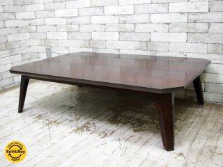 松本民芸家具 #67型 座卓 ローテーブル ミズメザクラ 定価約16万円 ●