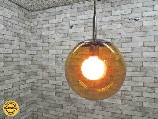 昭和レトロポップ ボール ガラス ペンダントライト 60's~70's ビンテージ ●