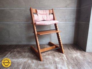 ストッケ STOKKE A/S ノルウェー ベビーチェア 状態良好 トリップトラップ TRIPP TRAPP 状態良好 新型 ピンク ステップアップ ハイチェア 子供椅子 ◇
