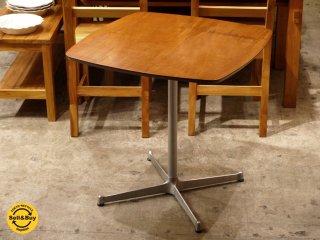 モモナチュラル Momo natural カフェテーブル スクエア ウォールナット天板 Xレッグ ■