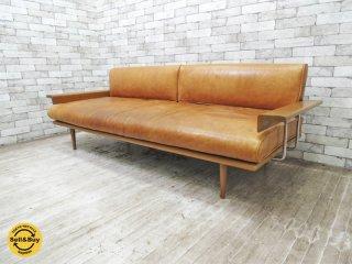 アクメファニチャー ACME Furniture カーディフ CARDIFF 3Pソファ レザー 本革 参考価格43万円 ●