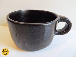 岩本忠美 コーヒーカップ マグカップ 漆 現代作家 ●